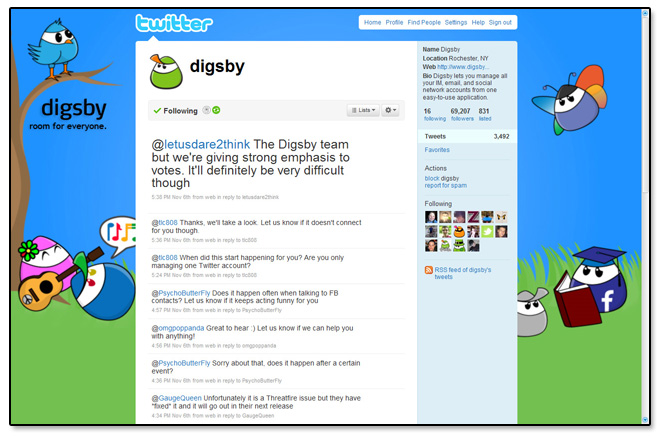 Digsby Picnic Twitter Mockup