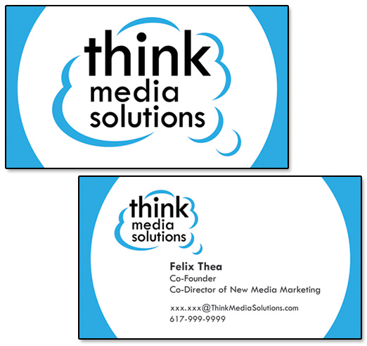 Think Media Solutions Business Cards