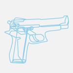 Gun vector by Kenny Chung