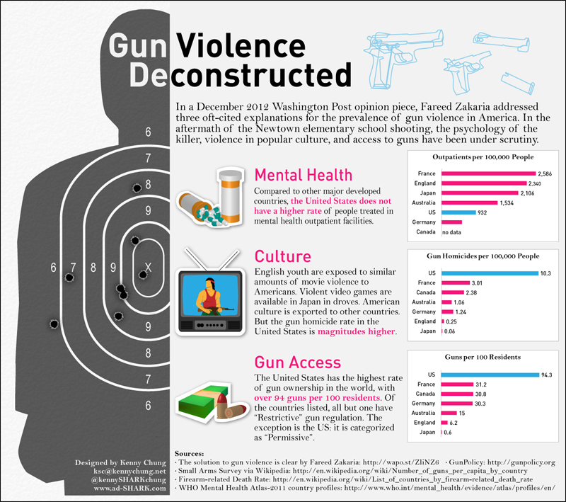 Gun Violence Causes Infographic
