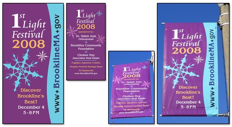 1st Light Festival Street Light Banners