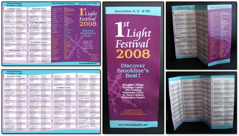 1st Light Festival Event Brochure
