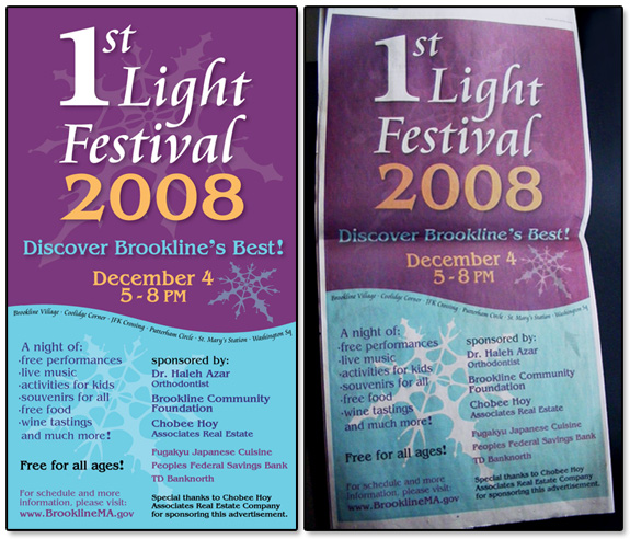 1st Light Festival Newspaper Ad