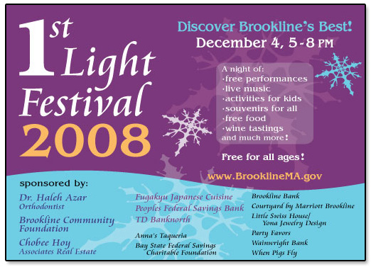 1st Light Festival Promotional Flier