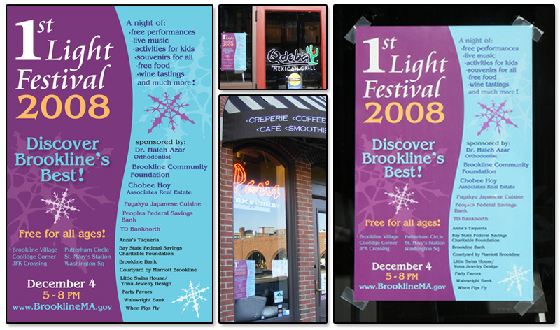 1st Light Festival Store Front Posters