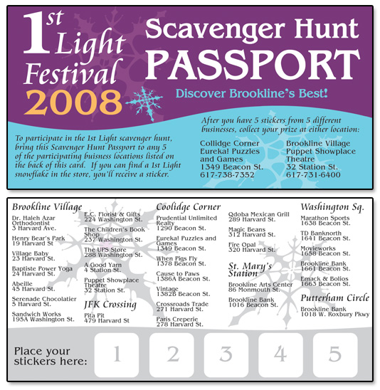 1st Light Festival Scavenger Hunt Pass