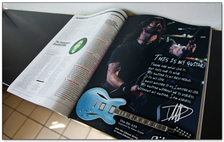 Gibson Ad Magazine Mockup