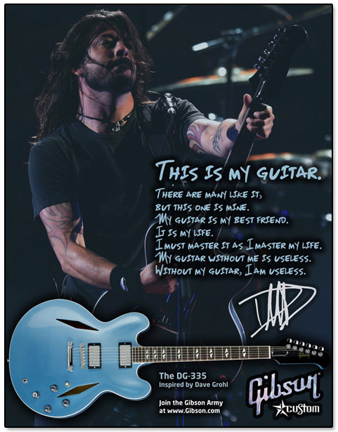 Gibson Guitars Dave Grohl Ad