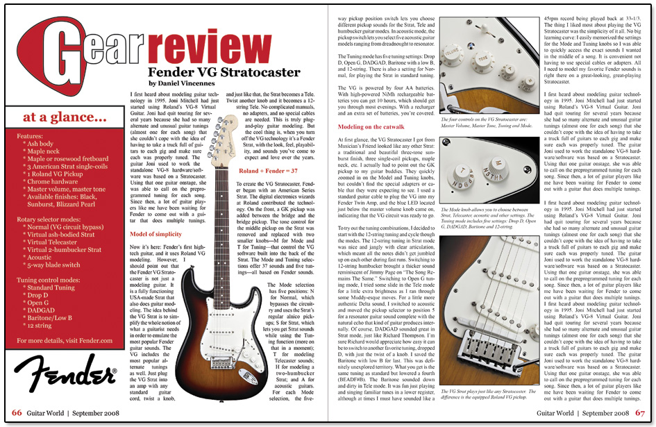 Guitar World Spread Design