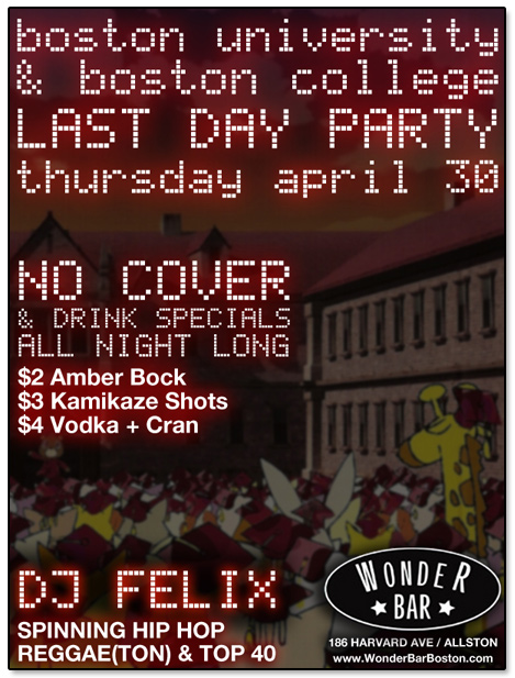 Wonder Bar BU/BC Last Day Party