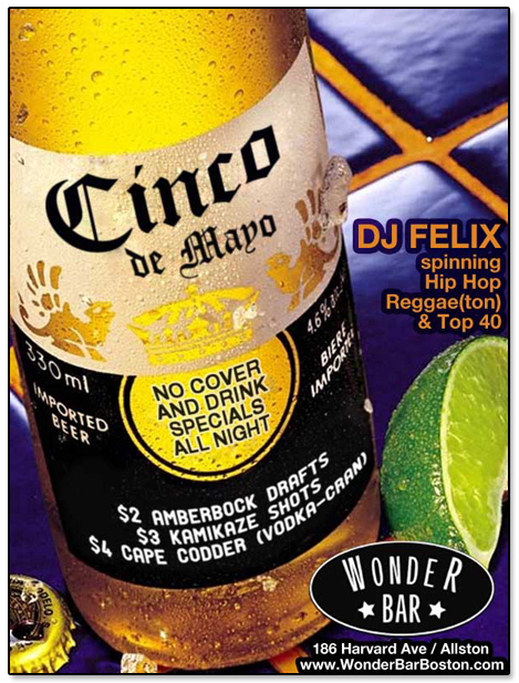 Wonder Bar Cinco De Mayo Flier