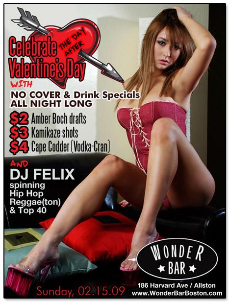 Wonder Bar Valentine's Day Flier