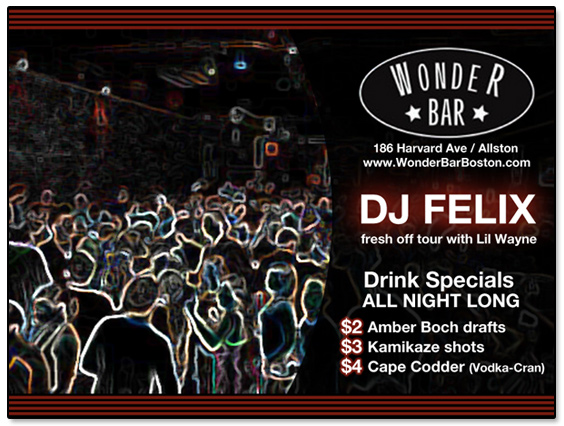 Wonder Bar Featuring DJ Felix