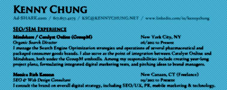 Kenny Chung Resume