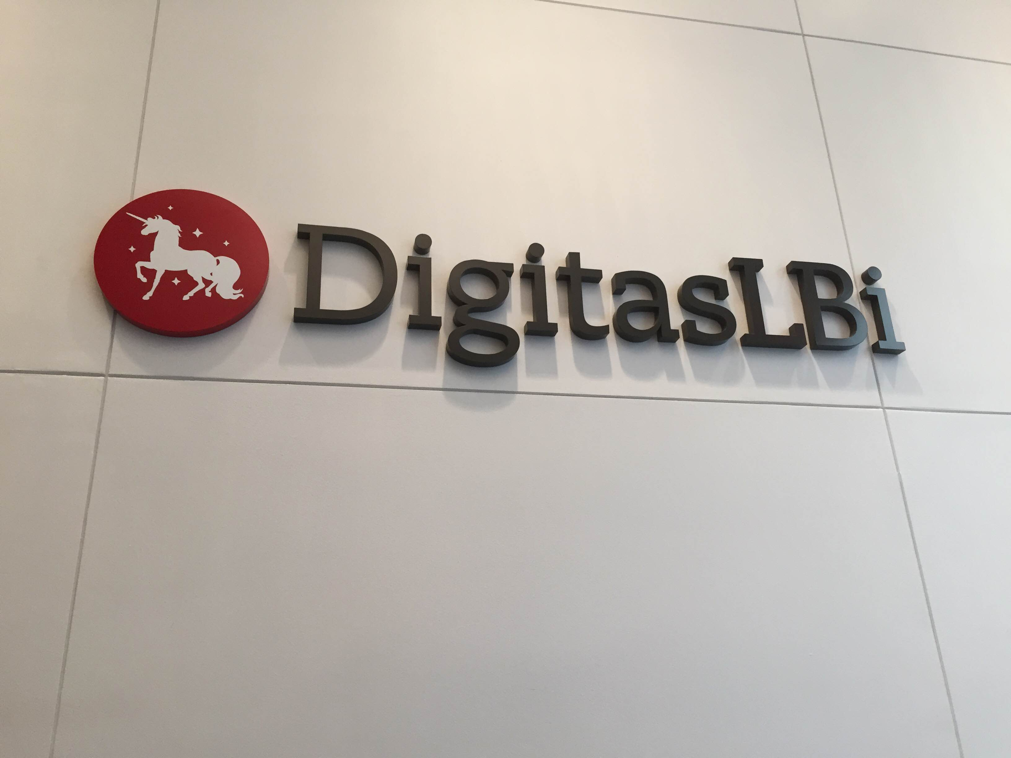 DigitasLBi logo at the New York office