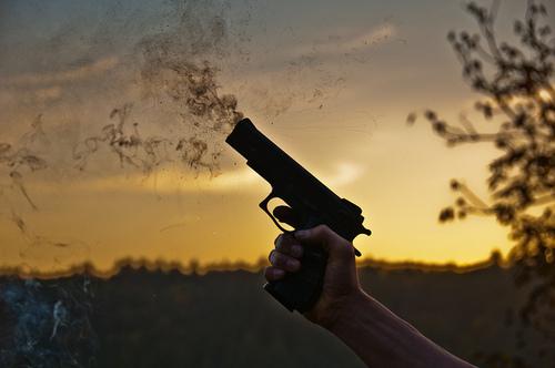 Smoking gun HDR photo