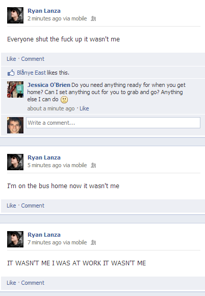 Ryan Lanza Facebook screenshot